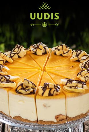 Сырный торт с белым шоколадом и запеченными яблоками